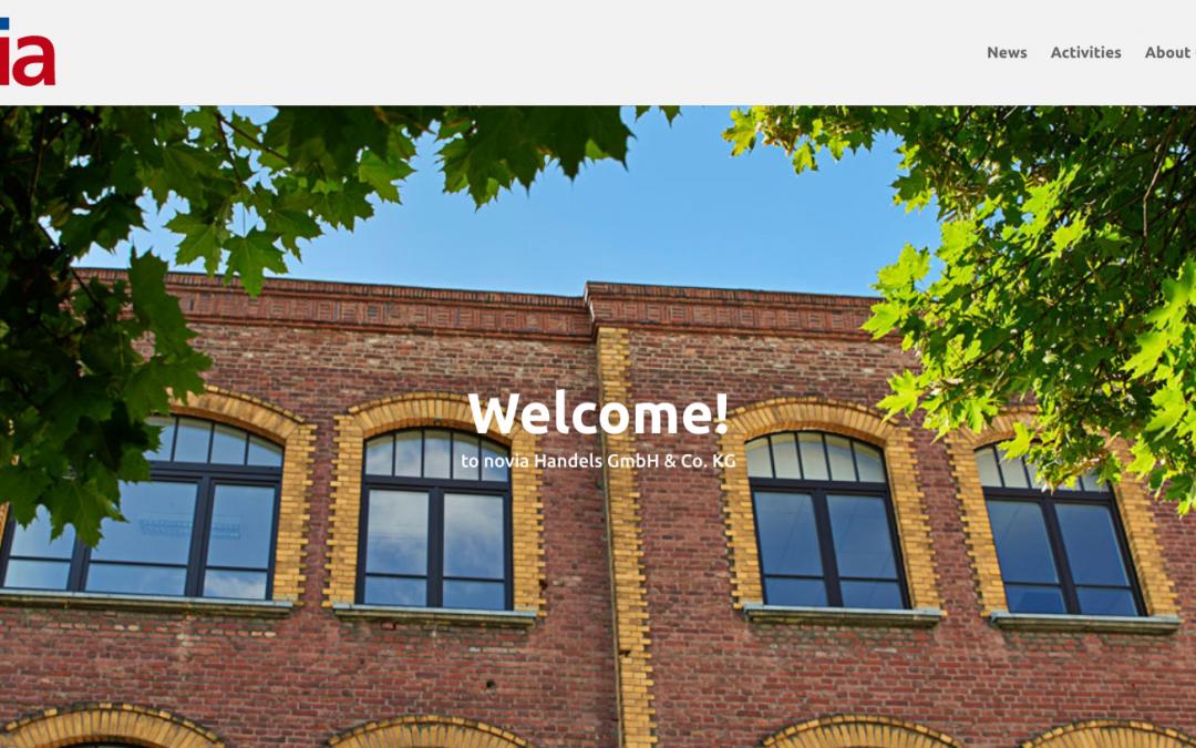 Screenshot of the new website novia.hk