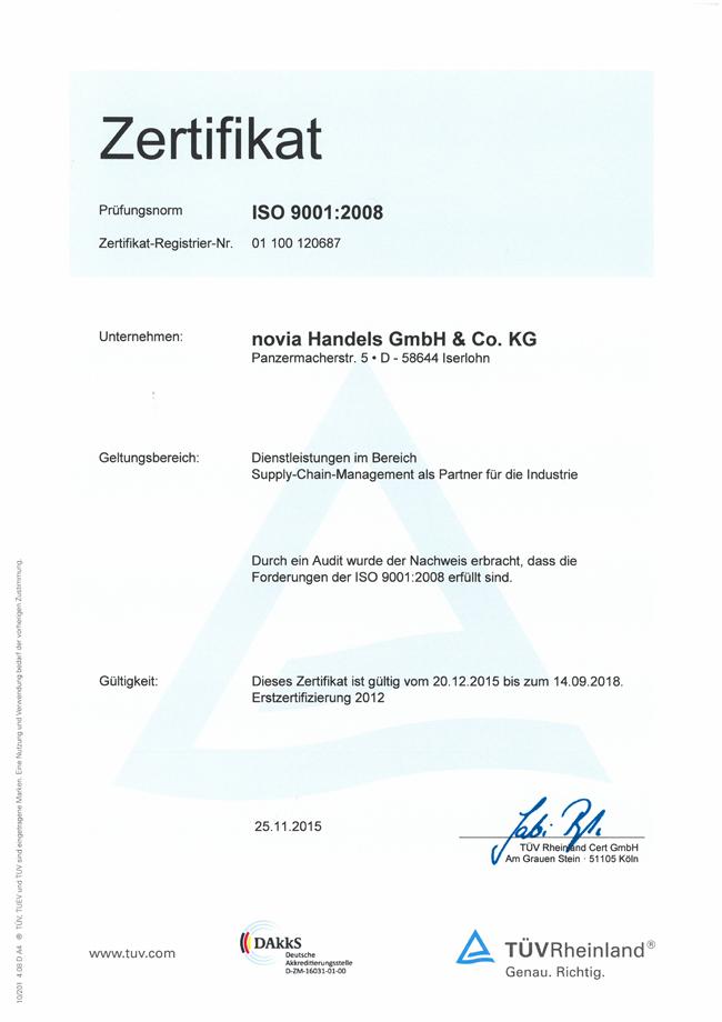 ISO Zertifizierung 9001:2008